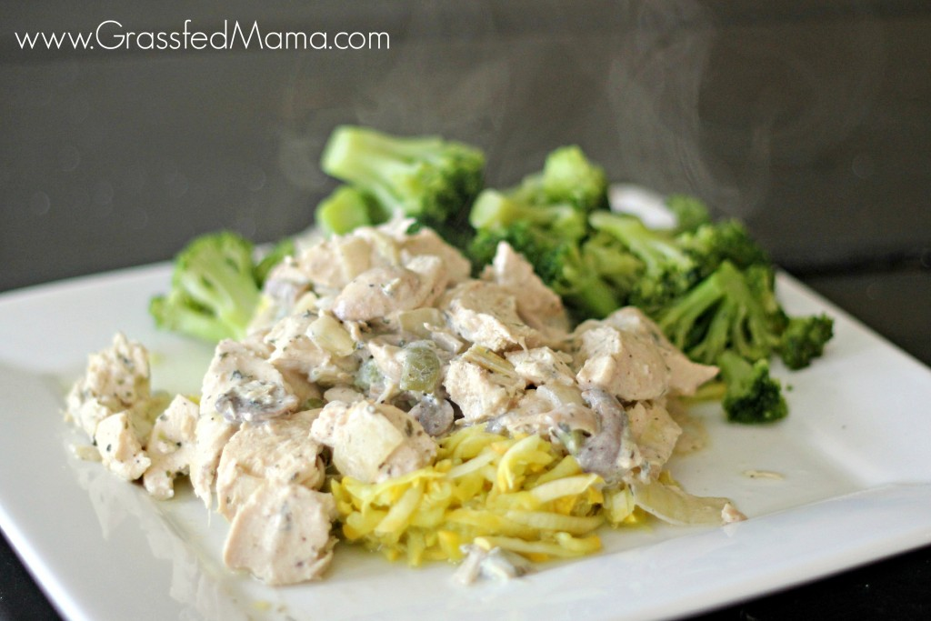 Healthy Chicken a la king low carb recipe