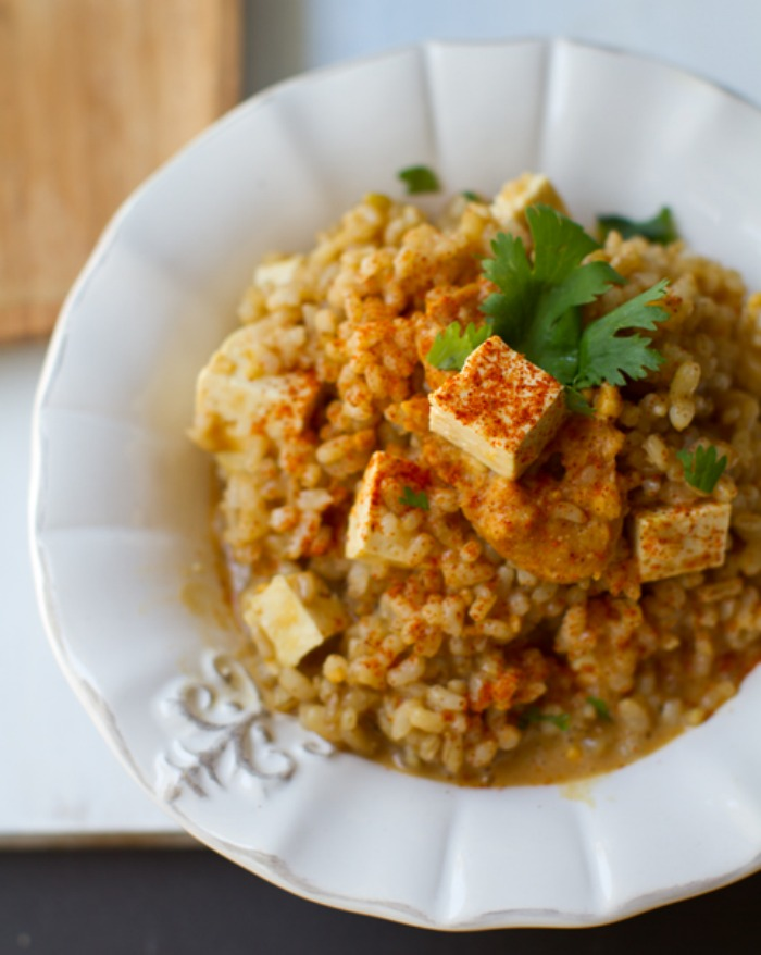 Peanut Butter Tofu Rice Bowl