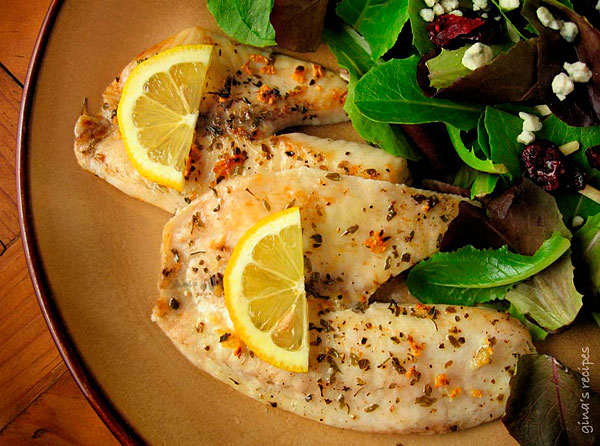 broiled tilapia with garlic low carb recipe
