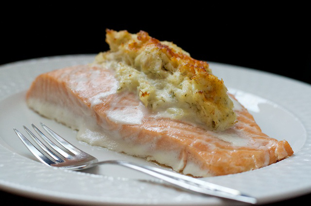 Crab stuffed salmon low carb recipe