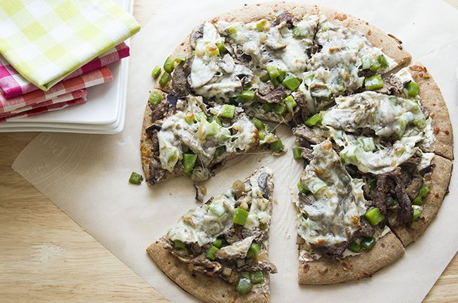 Philly Cheesesteak Pizza Low Carb Recipe